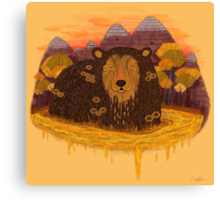 HONEY HIBERNATION Canvas Print