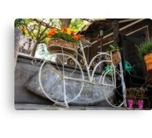 Bicycle Garden Canvas Print