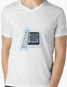 Ladder by Sky Window Mens V-Neck T-Shirt