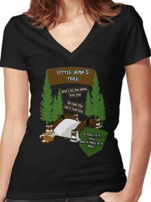 Little John's Toll Women's Fitted V-Neck T-Shirt