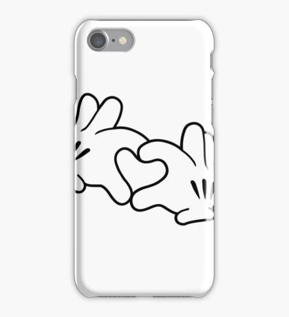 Mickey Heart Hands iPhone Case/Skin