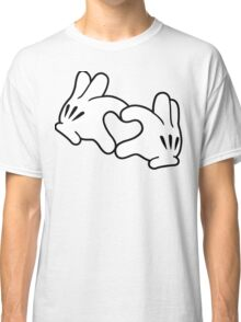 Mickey Heart Hands Classic T-Shirt