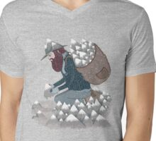 Mountain Man Mens V-Neck T-Shirt