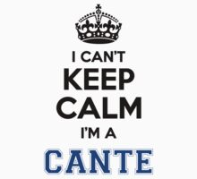 I cant keep calm Im a CANTE by icant