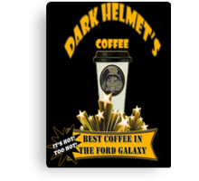Dark Helmet's Coffee Canvas Print
