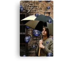 the world rains on me Canvas Print