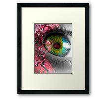 pink eye Framed Print
