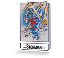 He-Man - Stonedar - Trading Card Design Greeting Card