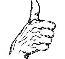 Cartoon Thumbs Up by NetoboDesigns