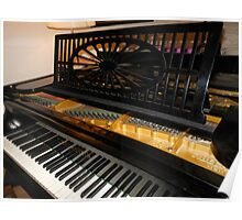 Bechstein Mini Grand Piano - Keyboard Close-up Poster