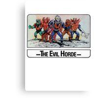 He-Man - The Evil Horde - Trading Card Design Canvas Print