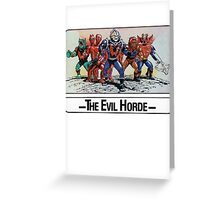 He-Man - The Evil Horde - Trading Card Design Greeting Card
