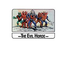 He-Man - The Evil Horde - Trading Card Design Photographic Print
