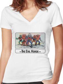 He-Man - The Evil Horde - Trading Card Design Women's Fitted V-Neck T-Shirt