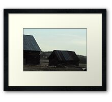 Working Barns at First Light Framed Print
