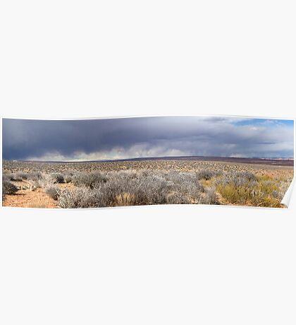 Storm front in Escalante, Utah Poster