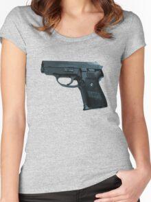 P-239 Pistol Gun Teeshirt Women's Fitted Scoop T-Shirt