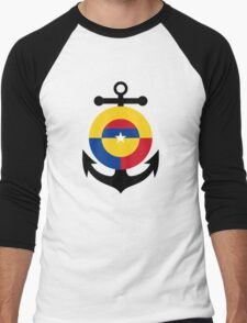 Roundel of the Colombian Naval Aviation  Men's Baseball ¾ T-Shirt