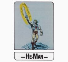 He-Man - He-Man - Trading Card Design One Piece - Short Sleeve