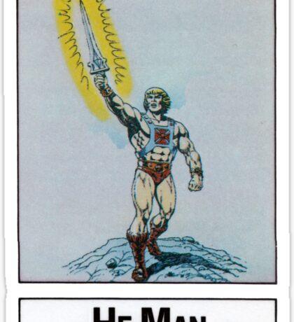 He-Man - He-Man - Trading Card Design Sticker