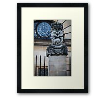Comical Statue at Oxford University Framed Print