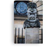 Comical Statue at Oxford University Canvas Print