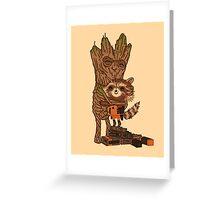 Groot + Raccoon Greeting Card