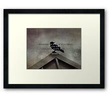 Walk with a friend-quote Framed Print