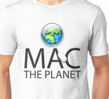 Mac The Planet Black Text Unisex T-Shirt