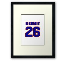 Basketball player Kermit Washington jersey 26 Framed Print