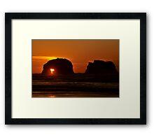 TWIN ROCKS OREGON Framed Print