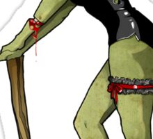 Zombie pin up girl - T Shirt Version  Sticker