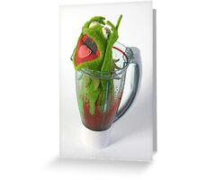 Frog in a Blender Greeting Card