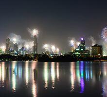 Midnight Fireworks by wolfcat