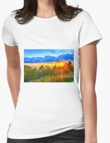 sunrise over blue ridge Womens Fitted T-Shirt