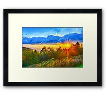 sunrise over blue ridge Framed Print
