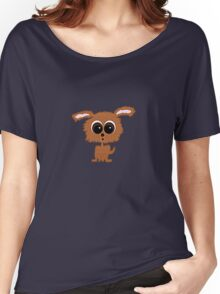 Brown Puppy Dog Women's Relaxed Fit T-Shirt