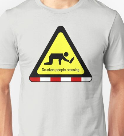 Drunken people crossing sign Unisex T-Shirt