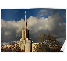 Jordan River - LDS Temple - South Jordan, Utah Poster