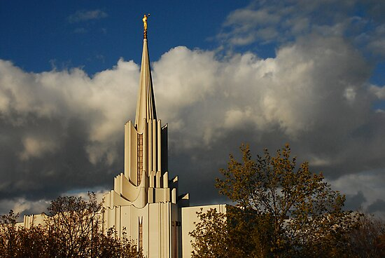 Jordan River - LDS Temple - South Jordan, Utah by Ryan Houston