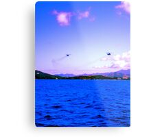 Hello Helicopter  Metal Print