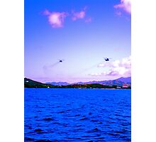 Hello Helicopter  Photographic Print