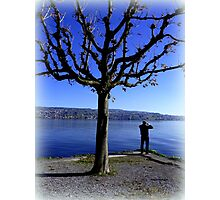 Photographing the Lake of Zurich Photographic Print