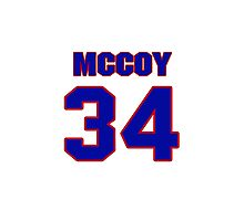 Basketball player McCoy McLemore jersey 34 Photographic Print