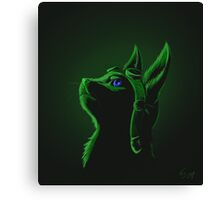 spoopy green ottsel Canvas Print