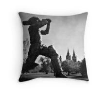 Sir Donald Bradman  Throw Pillow