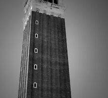 Tower At St Marks in BW by ArtistryBySonia