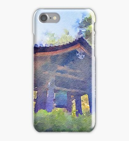 Ancient Belfry Wooden Bell Tower in Nara Japan iPhone Case/Skin