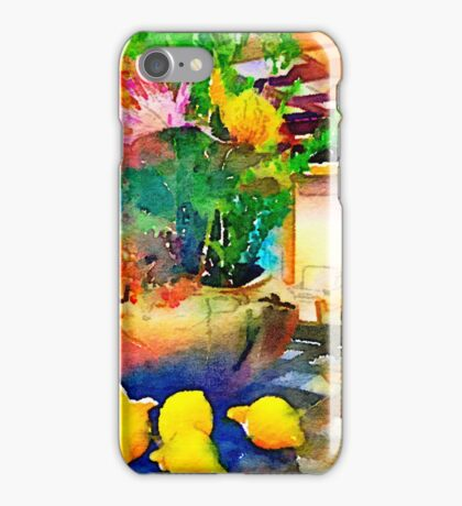 Gorgeous Welcome Flower Arrangement with Fruit iPhone Case/Skin