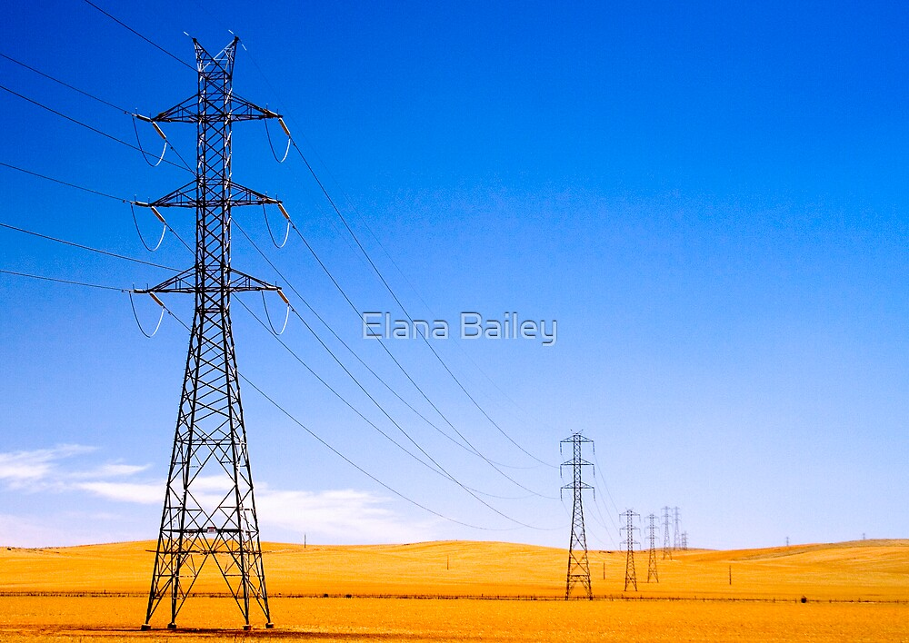 Power Lines at Clare by Elana Bailey